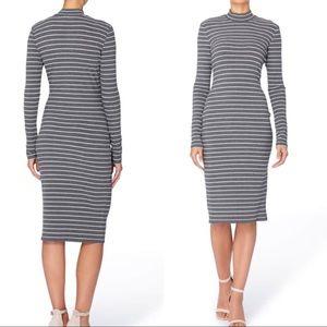 Bodycon long sleeve midi dress